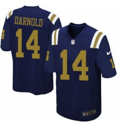 Men's Nike New York Jets #14 Sam Darnold Game Navy Blue Alternate NFL Jersey