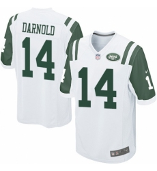 Men's Nike New York Jets #14 Sam Darnold Game White NFL Jersey