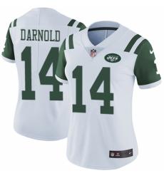 Women's Nike New York Jets #14 Sam Darnold White Vapor Untouchable Limited Player NFL Jersey