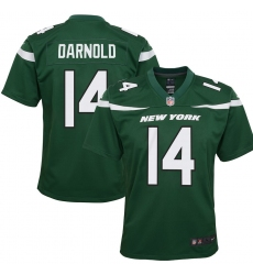 Youth New York Jets #14 Sam Darnold Game Jersey - Green