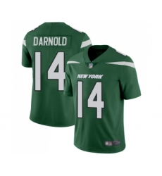 Youth New York Jets #14 Sam Darnold Green Team Color Vapor Untouchable Limited Player Football Jersey