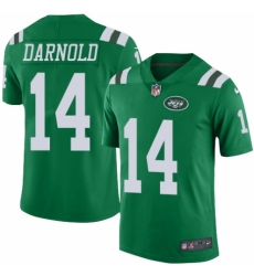 Youth Nike New York Jets #14 Sam Darnold Limited Green Rush Vapor Untouchable NFL Jersey