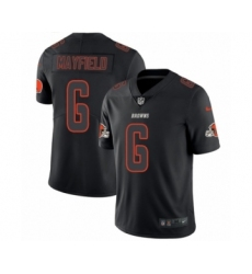 Men's Nike Cleveland Browns #6 Baker Mayfield Limited Black Rush Impact NFL Jersey