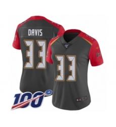 Women's Tampa Bay Buccaneers #33 Carlton Davis Limited Gray Inverted Legend 100th Season Football Jersey