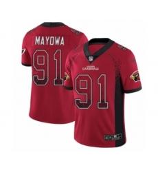 Men's Nike Arizona Cardinals #91 Benson Mayowa Limited Red Rush Drift Fashion NFL Jersey