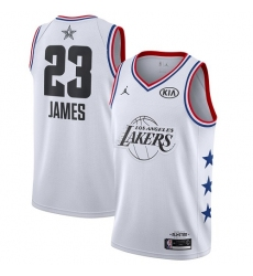 Men's Nike Los Angeles Lakers #23 LeBron James White Basketball Jordan Swingman 2019 All-Star Game Jersey