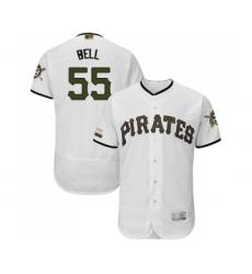 Men's Pittsburgh Pirates #55 Josh Bell White Alternate Authentic Collection Flex Base Baseball Jersey