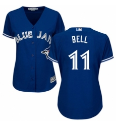 Women's Majestic Toronto Blue Jays #11 George Bell Authentic Blue Alternate MLB Jersey