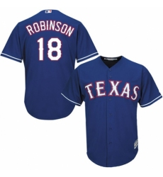 Men's Majestic Texas Rangers #18 Drew Robinson Replica Red Alternate Cool Base MLB Jersey