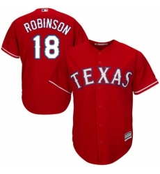 Men's Majestic Texas Rangers #18 Drew Robinson Replica Royal Blue Alternate 2 Cool Base MLB Jersey