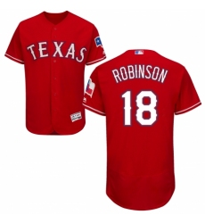 Men's Majestic Texas Rangers #18 Drew Robinson Royal Blue Alternate Flex Base Authentic Collection MLB Jersey