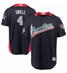 Men's Majestic Tampa Bay Rays #4 Blake Snell Game Navy Blue American League 2018 MLB All-Star MLB Jersey