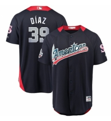 Men's Majestic Seattle Mariners #39 Edwin Diaz Game Navy Blue American League 2018 MLB All-Star MLB Jersey
