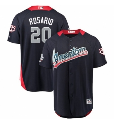 Men's Majestic Minnesota Twins #20 Eddie Rosario Game Navy Blue American League 2018 MLB All-Star MLB Jersey
