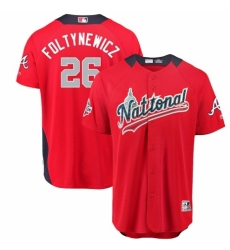 Men's Majestic Atlanta Braves #26 Mike Foltynewicz Game Red National League 2018 MLB All-Star MLB Jersey