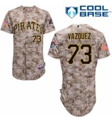 Men's Majestic Pittsburgh Pirates #73 Felipe Vazquez Authentic Camo Alternate Cool Base MLB Jersey