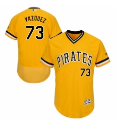 Men's Majestic Pittsburgh Pirates #73 Felipe Vazquez Gold Alternate Flex Base Authentic Collection MLB Jersey