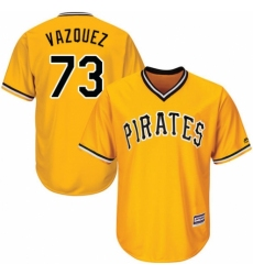 Men's Majestic Pittsburgh Pirates #73 Felipe Vazquez Replica Gold Alternate Cool Base MLB Jersey