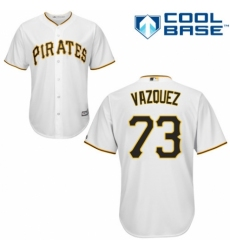 Youth Majestic Pittsburgh Pirates #73 Felipe Vazquez Authentic White Home Cool Base MLB Jersey
