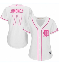 Women's Majestic Detroit Tigers #77 Joe Jimenez Replica White Fashion Cool Base MLB Jersey