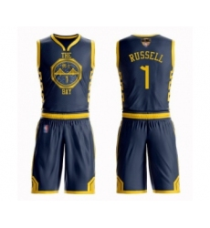 Youth Golden State Warriors #1 D'Angelo Russell Swingman Navy Blue Basketball Suit Jersey - City Edition