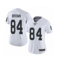 Women's Oakland Raiders #84 Antonio Brown White Vapor Untouchable Limited Player Football Jersey