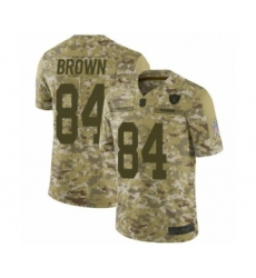 Youth Oakland Raiders #84 Antonio Brown Limited Camo 2018 Salute to Service Football Jersey