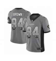 Youth Oakland Raiders #84 Antonio Brown Limited Gray Rush Drift Fashion Football Jersey