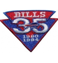 Stitched Buffalo Bills 35th Anniversary Jersey Patch
