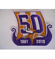 Minnesota Vikings 50th Anniversary Patch