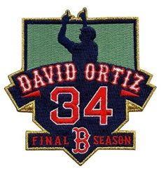 David Ortiz Boston Red Sox #34 MLB Men's Retirement Patch
