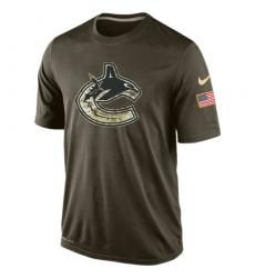 NHL Men's Vancouver Canucks Nike Olive Salute To Service KO Performance Dri-FIT T-Shirt