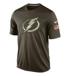 NHL Men's Tampa Bay Lightning Nike Olive Salute To Service KO Performance Dri-FIT T-Shirt