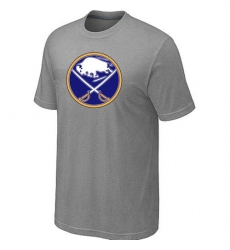 NHL Men's Buffalo Sabres Big & Tall Logo T-Shirt - Grey