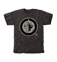 NHL Men's Winnipeg Jets Black Rink Warrior Tri-Blend T-Shirt