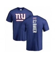 Football New York Giants #27 Deandre Baker Royal Blue Backer T-Shirt
