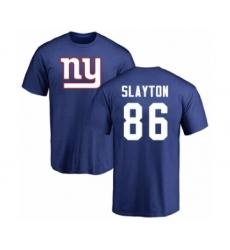 Football New York Giants #86 Darius Slayton Royal Blue Name & Number Logo T-Shirt