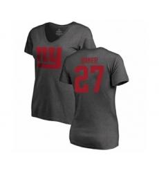 Football Women's New York Giants #27 Deandre Baker Ash One Color T-Shirt