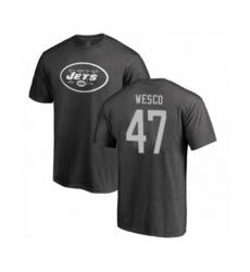 Football New York Jets #47 Trevon Wesco Ash One Color T-Shirt