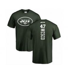 Football New York Jets #47 Trevon Wesco Green Backer T-Shirt