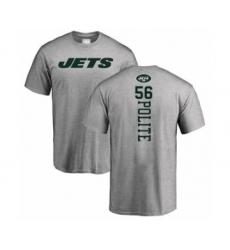 Football New York Jets #56 Jachai Polite Ash Backer T-Shirt