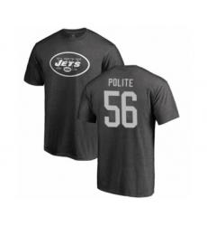 Football New York Jets #56 Jachai Polite Ash One Color T-Shirt