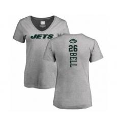 Football Women's New York Jets #26 Le'Veon Bell Ash Backer T-Shirt