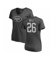 Football Women's New York Jets #26 Le'Veon Bell Ash One Color T-Shirt
