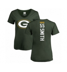 Football Women's Green Bay Packers #55 Za'Darius Smith Green Backer T-Shirt