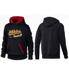 MLB Men's Nike Oakland Athletics Pullover Hoodie - Black/Red