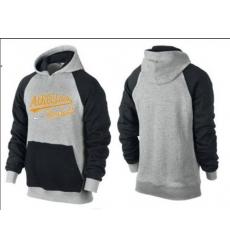 MLB Men's Nike Oakland Athletics Pullover Hoodie - Grey/Black
