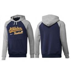 MLB Men's Nike Oakland Athletics Pullover Hoodie - Navy/Grey