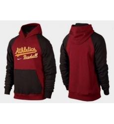 MLB Men's Nike Oakland Athletics Pullover Hoodie - Red/Brown