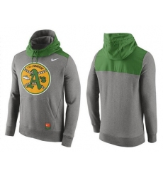 MLB Men's Oakland Athletics Nike Gray Cooperstown Collection Hybrid Pullover Hoodie